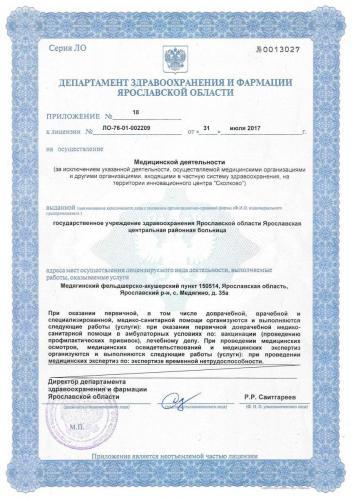 Лицензия 2017 Медягинский ФАП