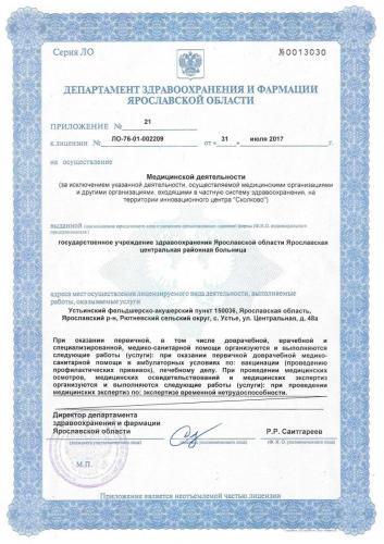 Лицензия 2017 Устьинский ФАП