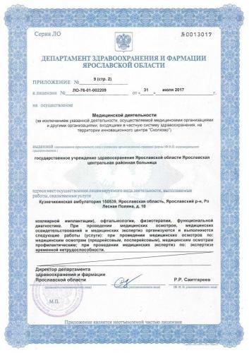 Лицензия 2017 (стр.2) Кузнечихинская амб.