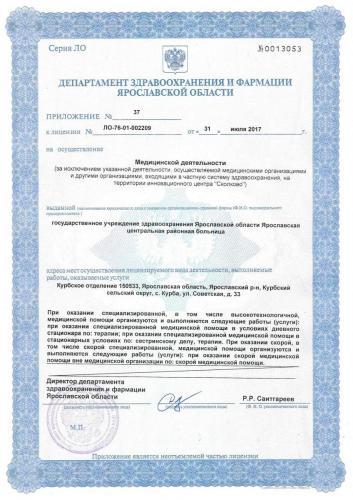 Лицензия 2017 Курбское отд.
