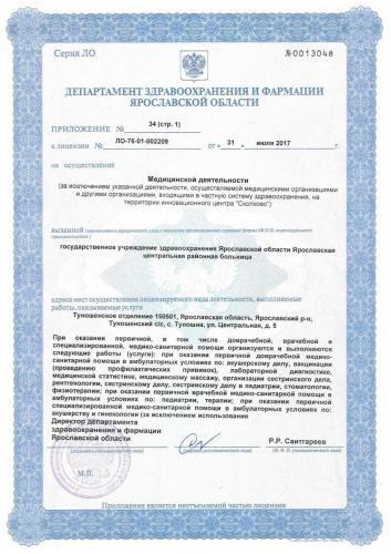 Лицензия 2017 (стр.1) Туношенское отд.