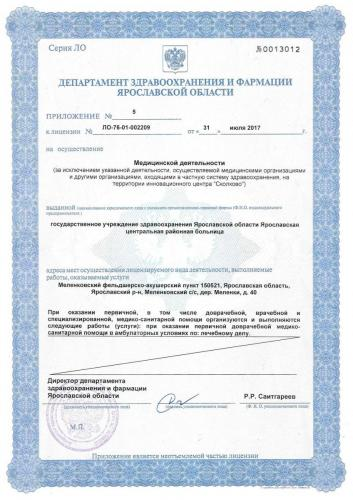 Лицензия 2017  Меленковский ФАП