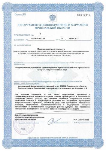 Лицензия 2017  Ананьинский ФАП